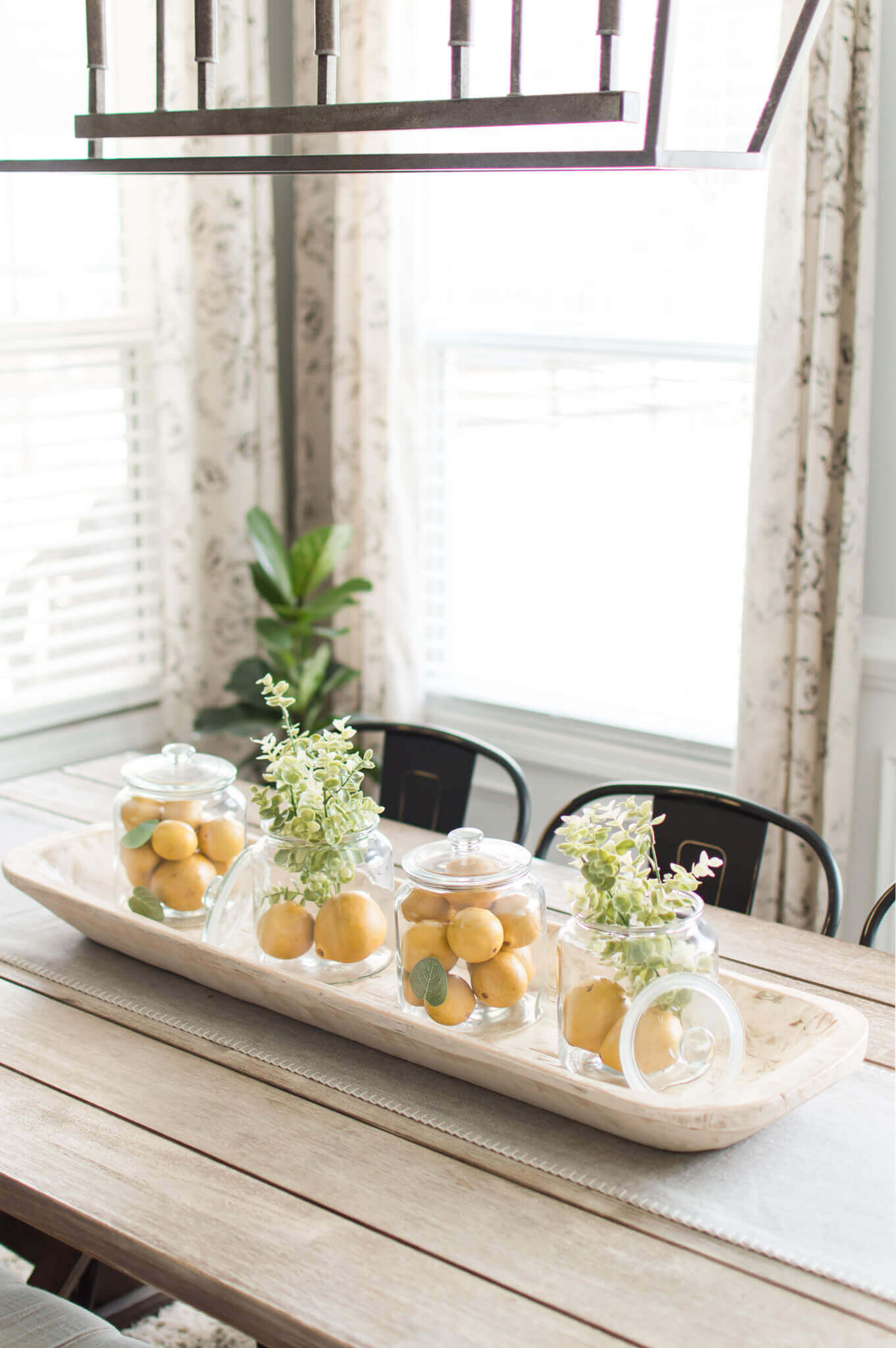 Lemon Jar Centerpiece Idea for Spring / A Hosting Home Blog