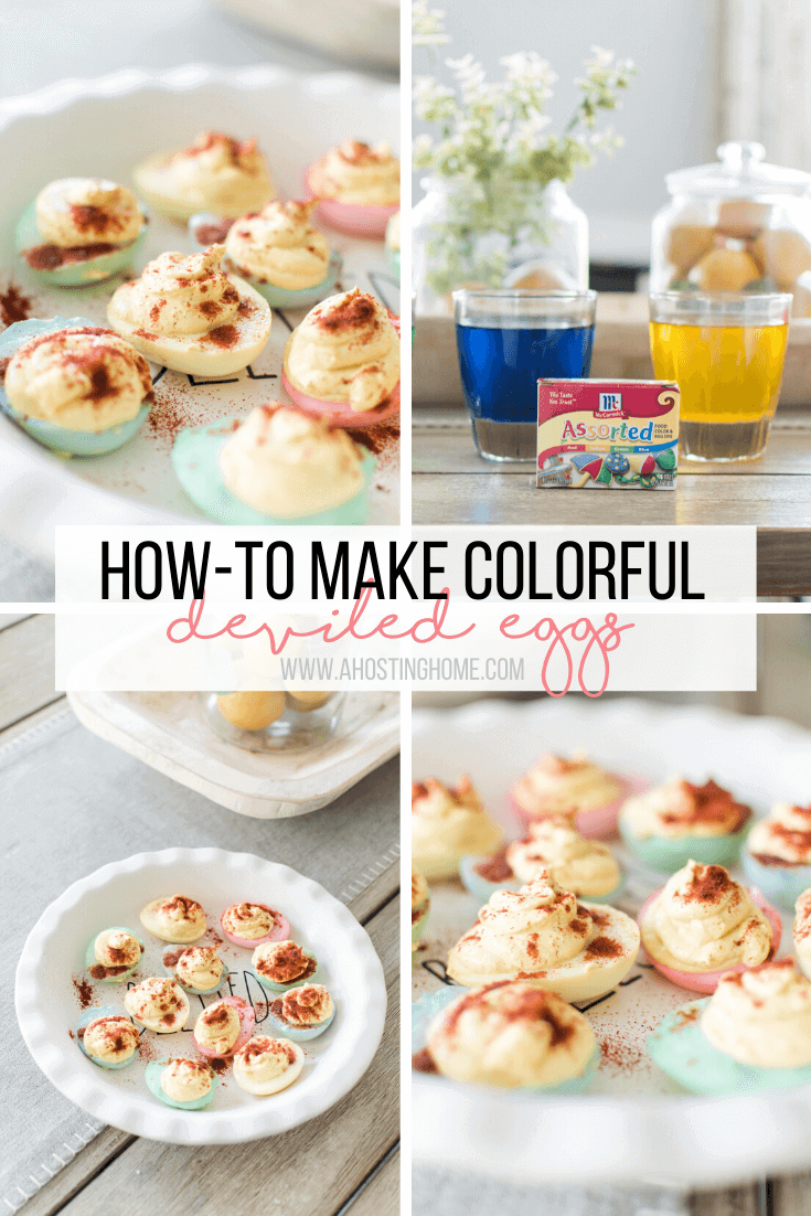 How To Make Colorful Deviled Eggs / A Hosting Home Blog