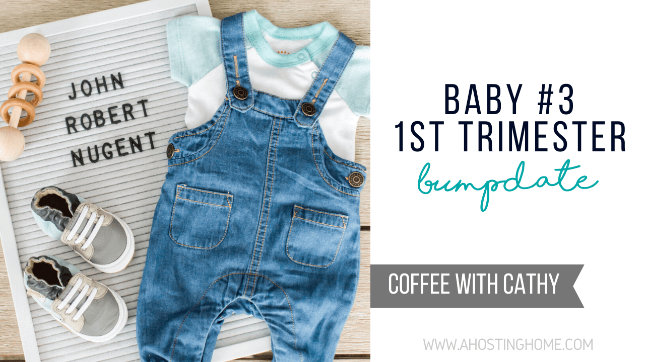 Baby #3 1st Trimester Bumpdate / A Hosting Home Blog