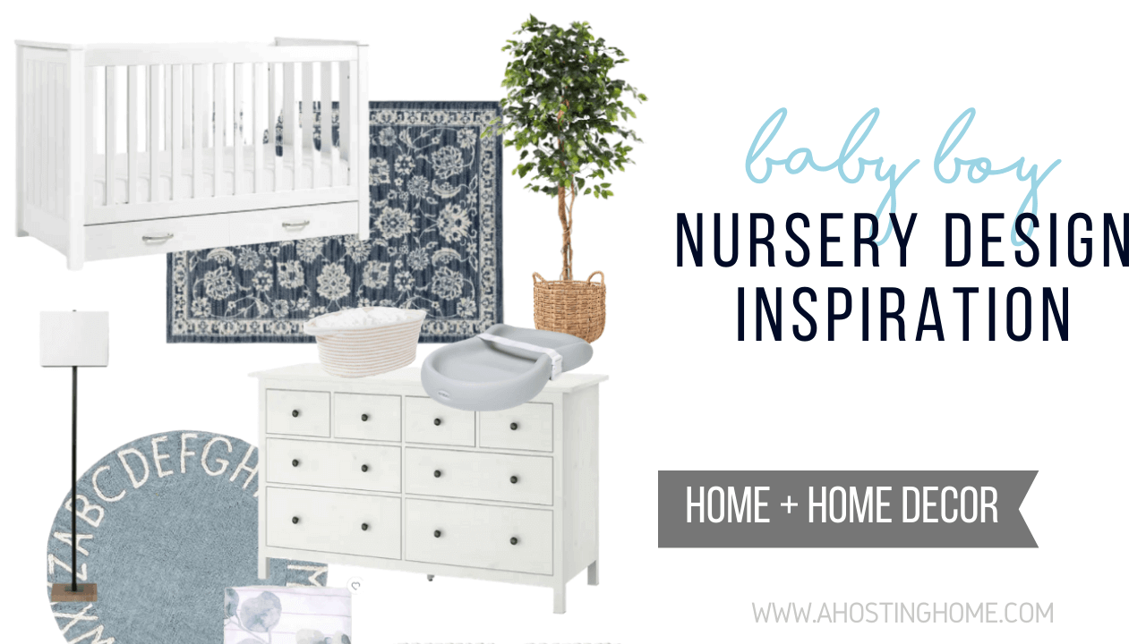 Neutral Baby Boy Nursery Design Inspiration / A Hosting Home Blog