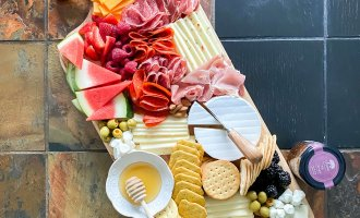4th of July Inspired Summer Charcuterie Board / A Hosting Home Blog