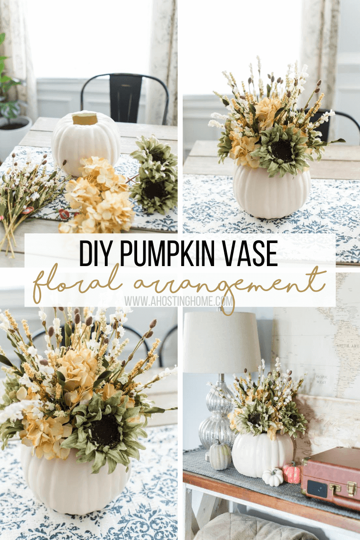 DIY Pumpkin Flower Arrangement / A Hosting Home Blog