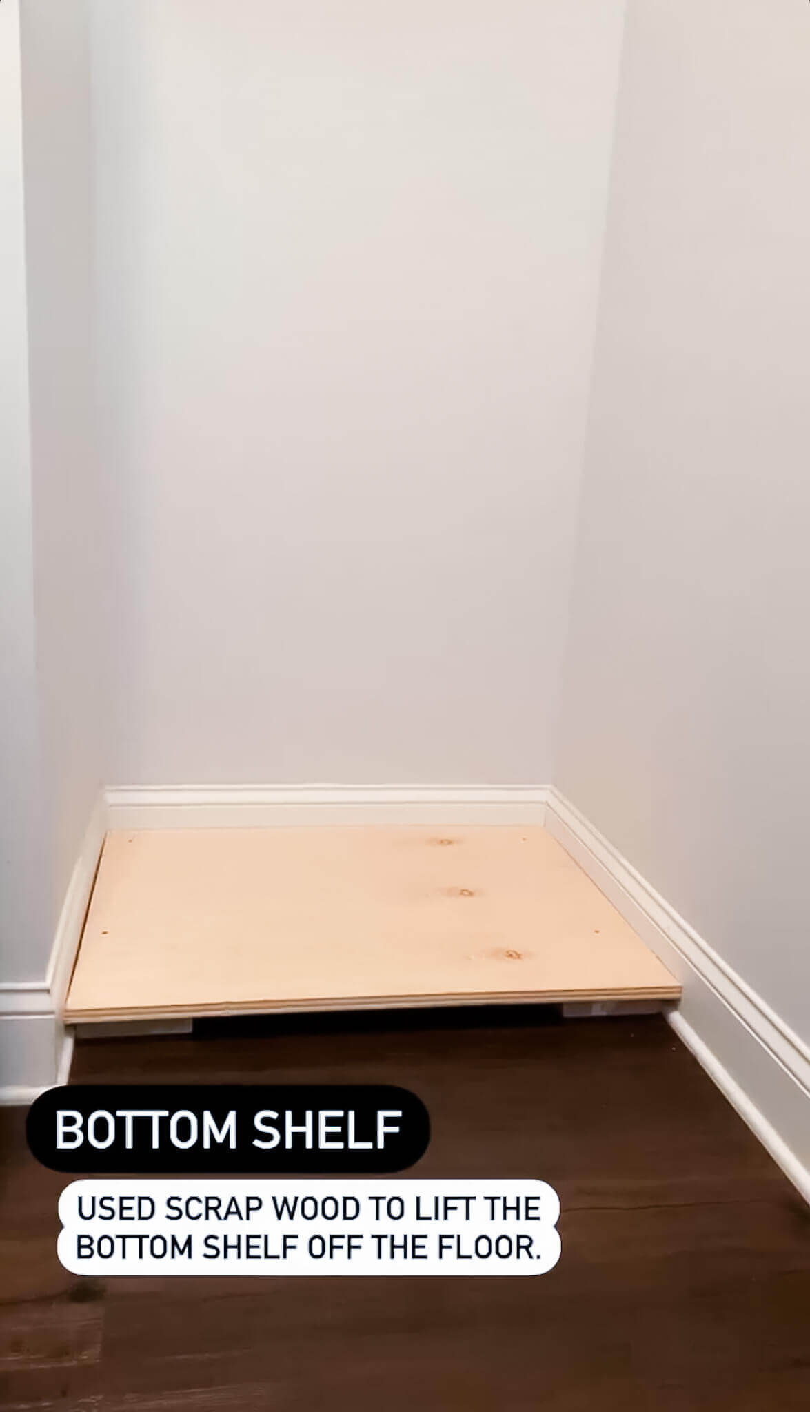 DIY Floating Shelves in the Laundry Room / A Hosting Home Blog