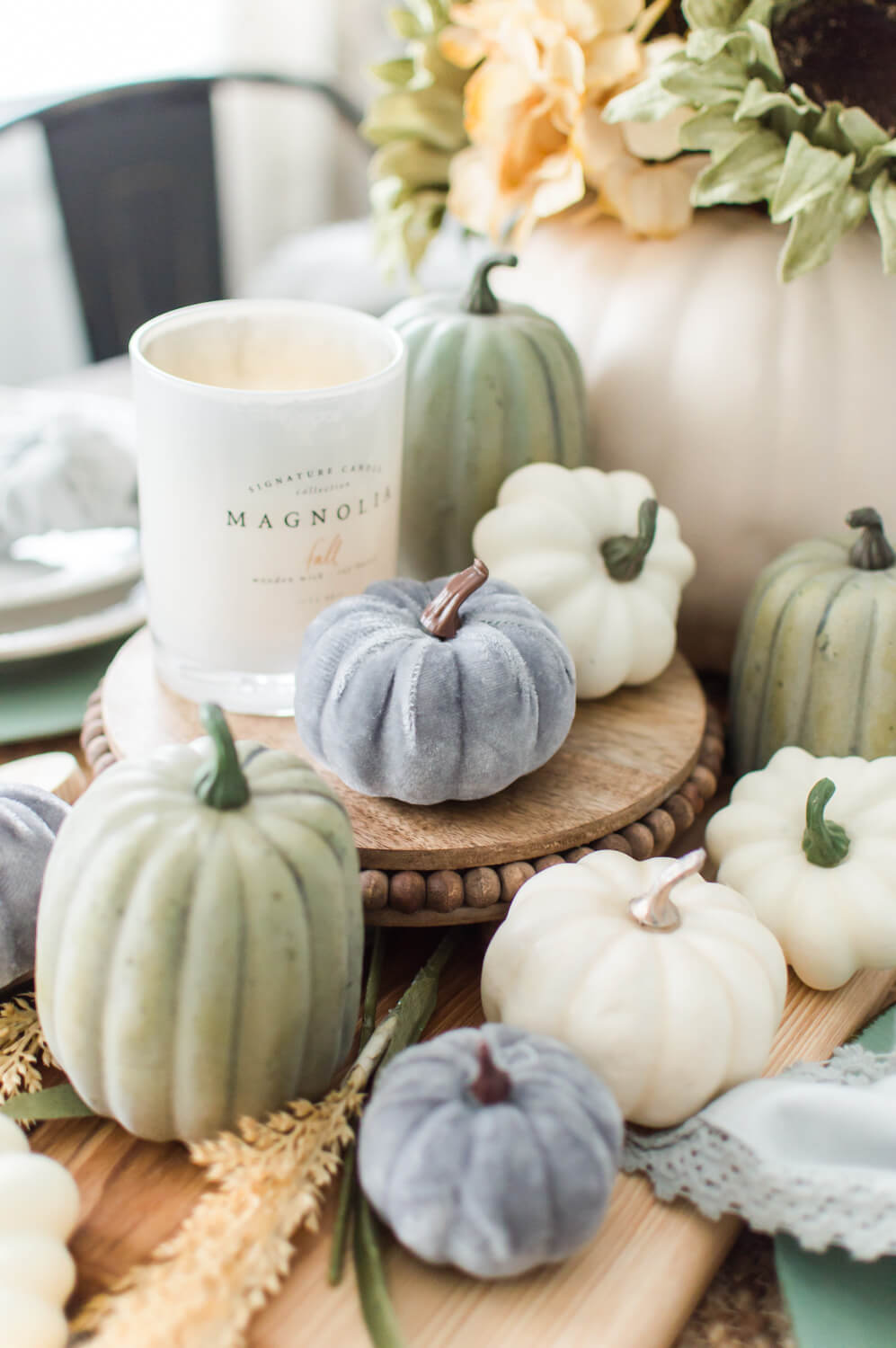 A Simple Fall Tablescape / A Hosting Home Blog