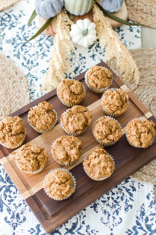2 Ingredient Pumpkin Spice Muffins / A Hosting Home Blog