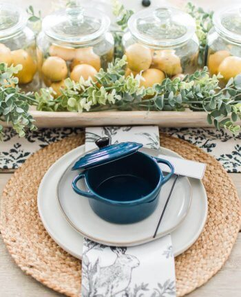 Simple Spring Tablescape / A Hosting Home Blog