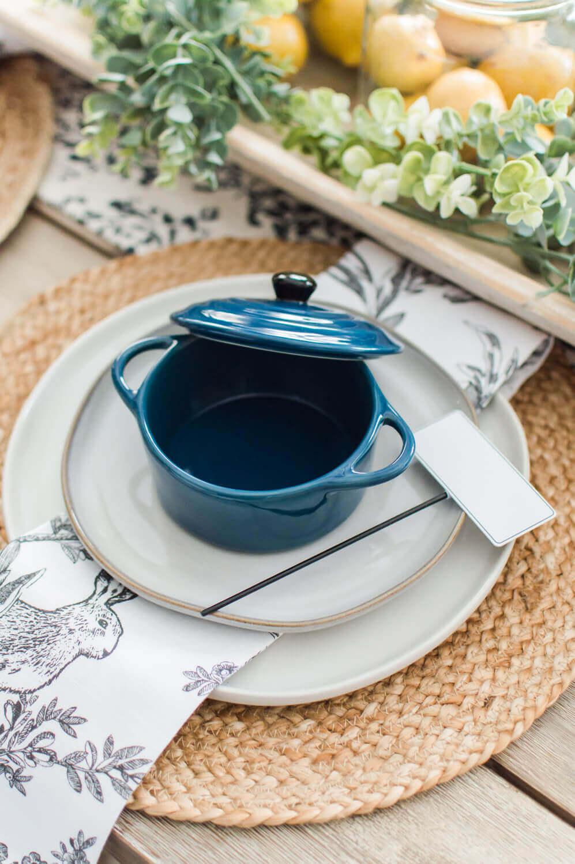 Simple Spring Tablescape / A Hosting Home Blog