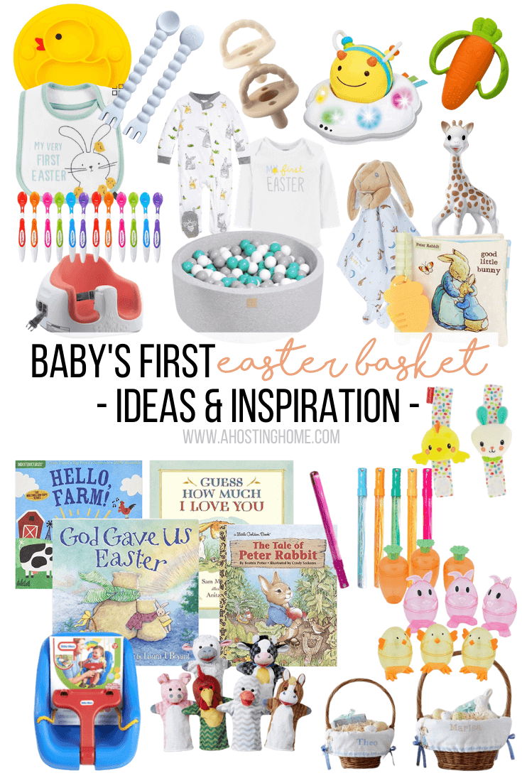 Baby's First Easter Basket Ideas / A Hosting Home Blog